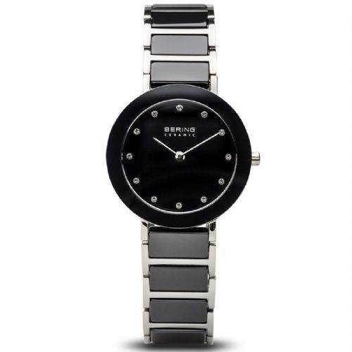 Bering Ladies Round Black Ceramic Bracelet | Bering Watch | 11429-742
